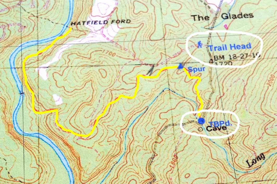 General route of new seven mile segment at Daddys Creek