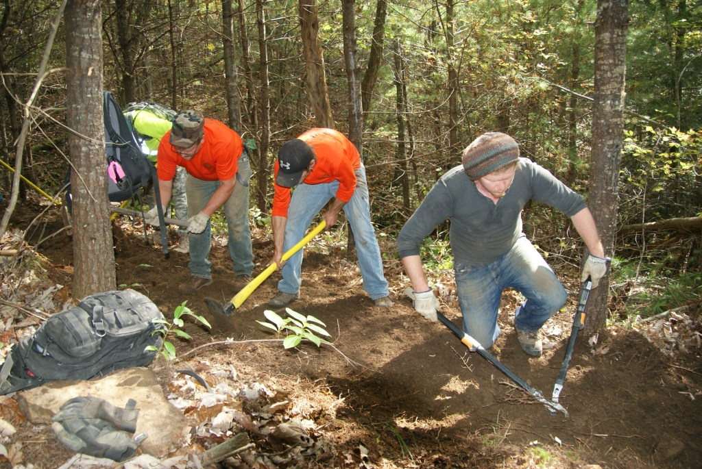 Red, Cain and Jack at Creek #3, Daddy's Creek extension. Big Dig 2015.