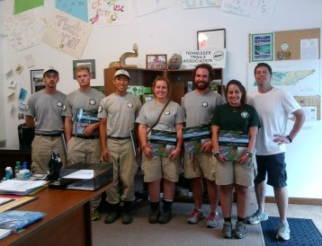 Ranger Mark Stanfil (right) with AmeriCoprs vols 2015