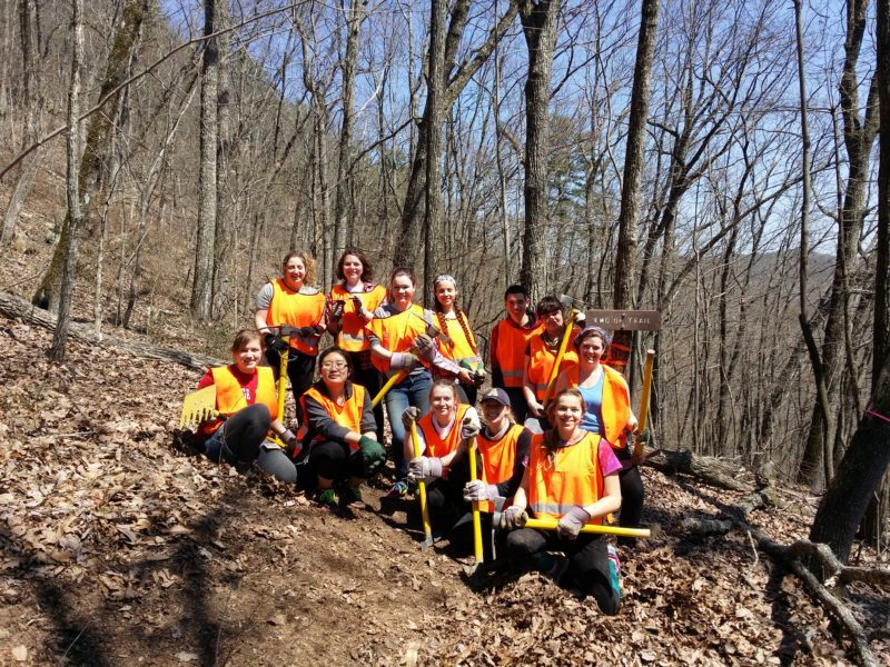 Allegheny College students complete final 200 feet to end of state property near Dayton, Tn
