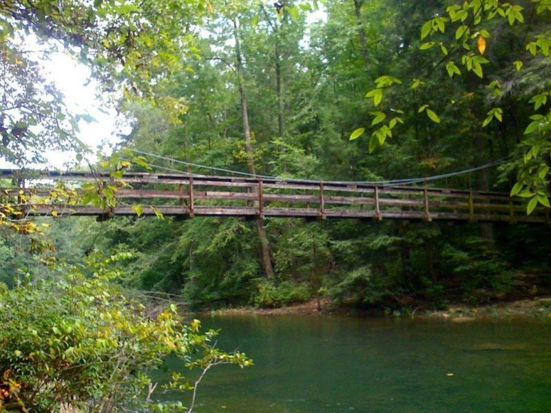 100-foot Suspension Bridge over Piney River (Frank Jamison)