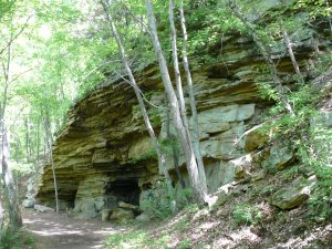Mine openings next to North Chick trail (Gary Keckley)