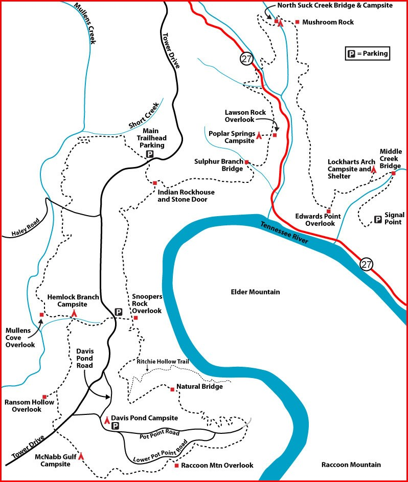 Tennessee River Gorge Segment map - Don Deakins