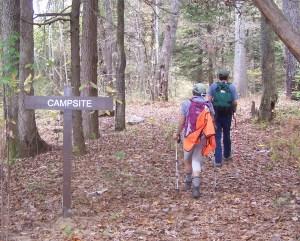 Wolf Den Rocks primitive campsite. (Richie)
