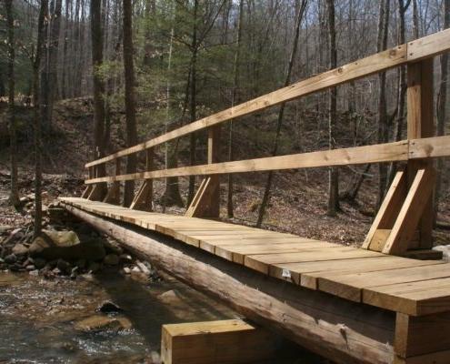 Footbridge over Straight Fork Creek (Bobby Trotter)