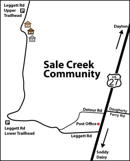 Road map to Leggett Road Upper and Lower Trailheads (Don Deakins)