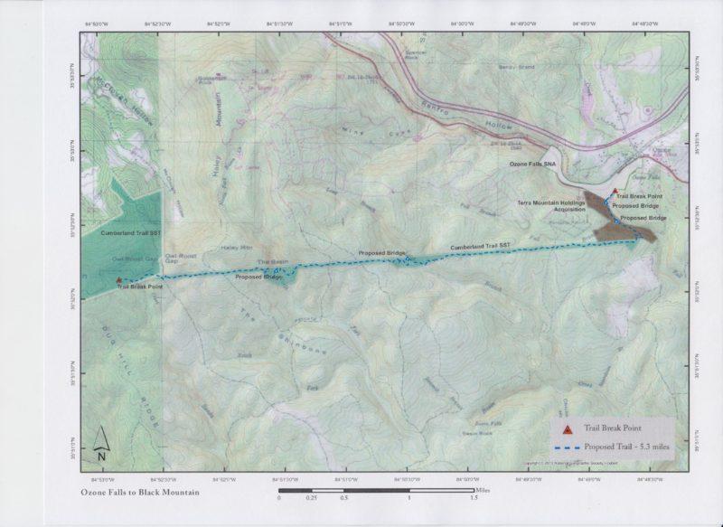 Black Mountain to Ozone Falls Planning Map 2017