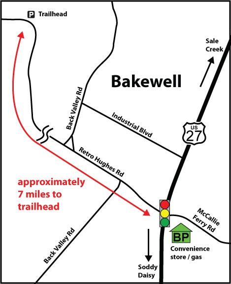 Road map to Retro Hughes Trailhead (Don Deakins)