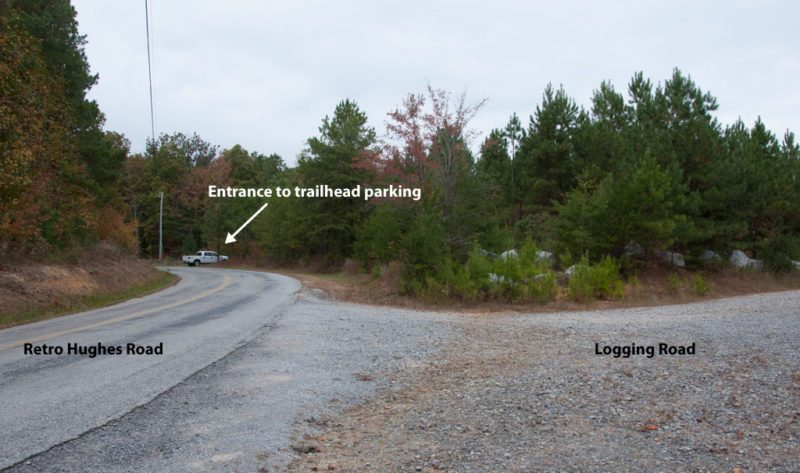 Approach to Retro Hughes Trailhead (Don Deakins)