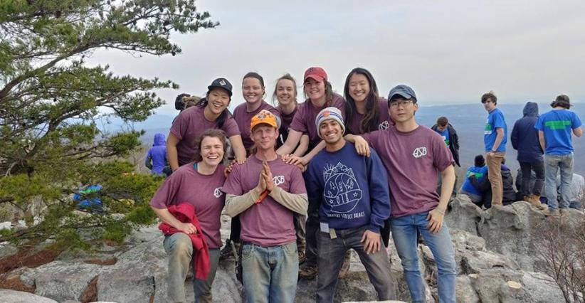 """ I only regret that I have but one ""love"" to give for this photo. This was such an awesome group from BU and such a real treat to work with them. I missed them before even saying ""goodbye for now"". Danny Smith, CTC Trail Crew"