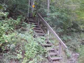 Wooden Stairway on Hwy 27 (Don Taylor)