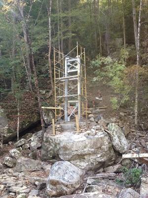 Big Soddy Bridge south tower under Construction (TC Varner)