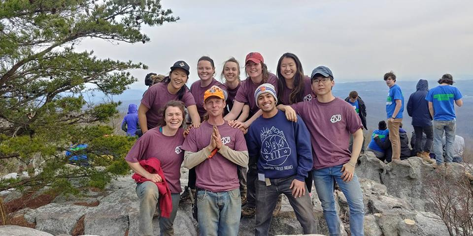"""I only regret that I have but one 'love' to give for this photo. This was such an awesome group from BU and such a real treat to work with them. I missed them before even saying 'goodbye for now.'"" Danny Smith, CTC Trail Crew"